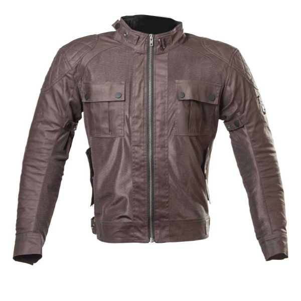 Cazadora chaqueta Teneree II Venty Man Marron moto Verano transpirable de By City malla perforada